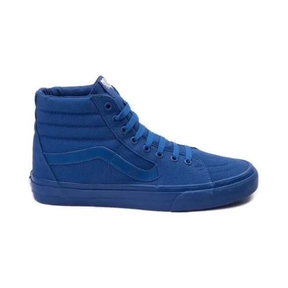 ecee1098a367 Vans true blue hi top sk8 mono canvas men new